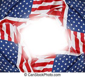 USA flags frame