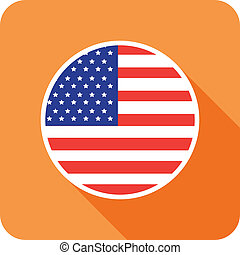 usa flat flag icon
