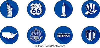 USA Flat Icon Set 1