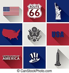 USA Flat icon Set 2