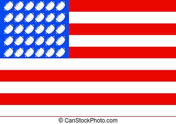 USA football flag 2