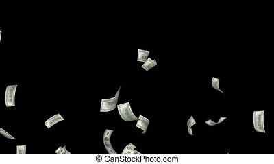 usa, geld, dollars, valuta, amerikaan, het vallen
