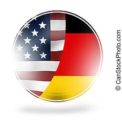 USA Germany round icon button symbol design