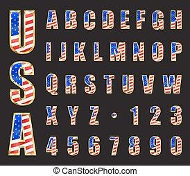 USA Gold Font