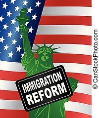 USA Government Immigration Reform Statue of Liberty