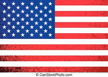 USA. grunge American flag illustration