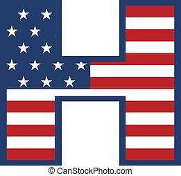 USA H letter