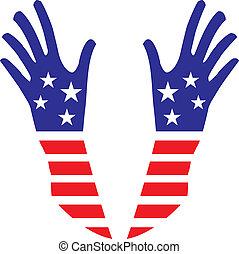 Usa hands