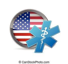 usa health concept illustration design