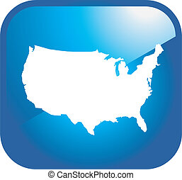 usa icon map