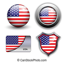 usa icons - USA, american flag icons theme.