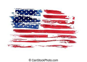 usa, indépendance, fond, jour