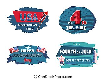 USA Independence Collection Vector Illustration