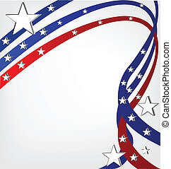 USA independence day. Stars background template vivid colors with copy space