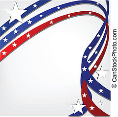 USA independence day. Stars background template vivid colors