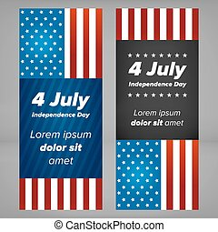 USA Independence day banners
