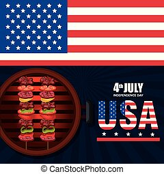 USA independence day barbeque party