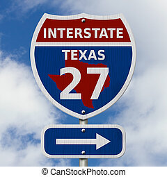 USA Interstate 27 highway sign