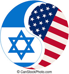 USA Israel - Symbol to show the relationship and dependency...