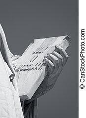 usa, könyv, szobor, new york, szabadság