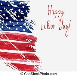 USA Labor day background