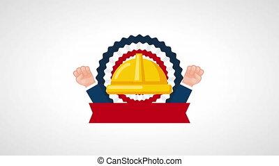 usa labor day celebration with helmet