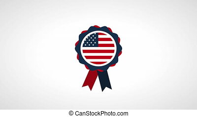 usa labor day celebration with medal
