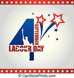 USA Labor Day poster design