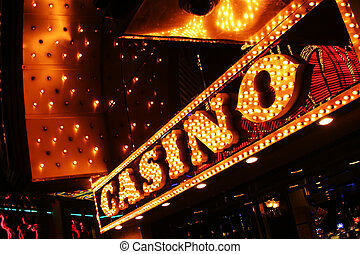 usa., las vegas, teken., casino, neon, nevada, las