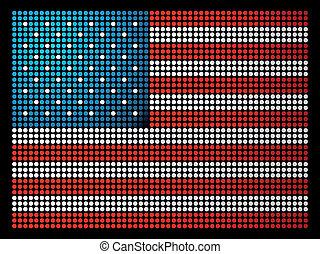 USA leds flag