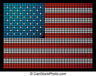 USA leds flag