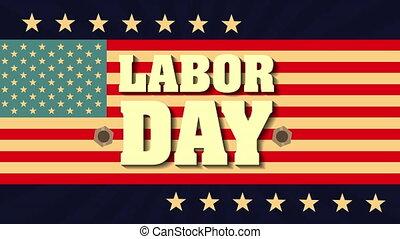usa, main-d'œuvre, drapeau, police, jour, carte