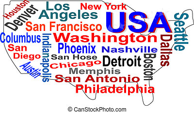 Karta Usa Nashville.Sweden Map Words Cloud With Larger Cities Sweden Map And Words