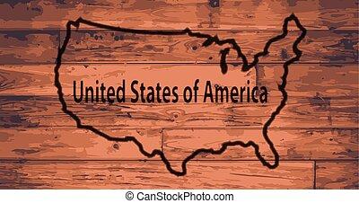 USA Map Brand