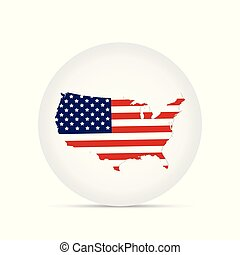 USA Map Button Illustration
