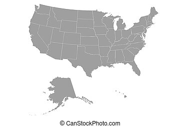 Drawing Of Florida USA Outline Map With Shadow Detailed - Outline of the usa map