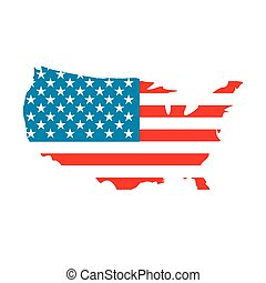 USA map flag icon
