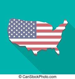 USA map icon