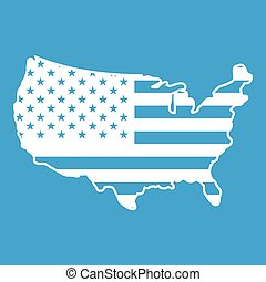 Usa map icon  Vector illustration map of united states of