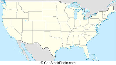 Usa Election States Map Map Of United States Of America Showing
