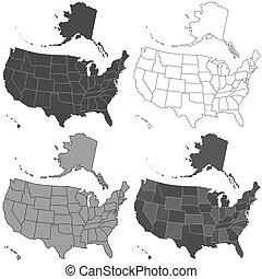 USA map set