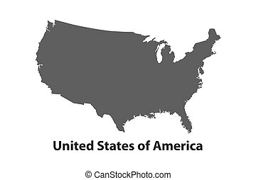 Clipart Vector Of Black USA Map With States Csp Search - Usa map vector