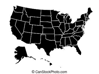 USA map vector illustration