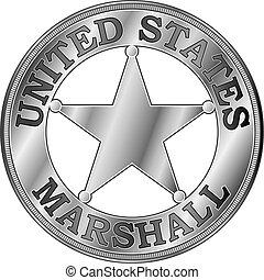 usa., marschall, abzeichen