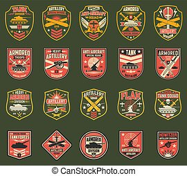 USA military chevrons or stripes vector icons