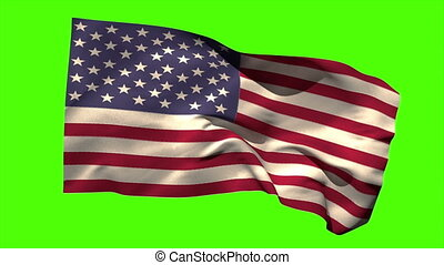 USA national flag blowing in the wind