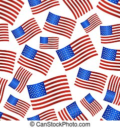 usa national flag celebration seamless pattern eps10