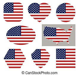 USA national flag icons