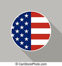 USA National Flag Vector Flat Icon
