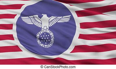 Usa Nazi Flag Closeup Seamless Loop